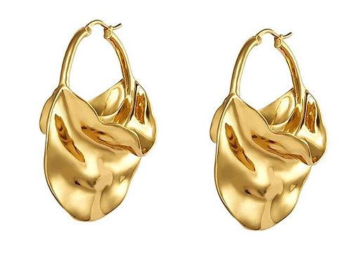 Shenia  14k Hoop Earrings. Impressive Look