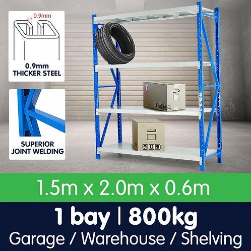 1 Bay Garage Storage Steel Rack Shelving 1.5m 800kg