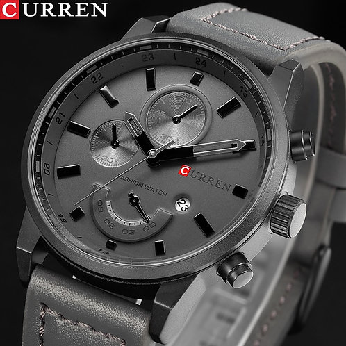 CURREN Men's Watch Casual Sport Luxury Leather Military