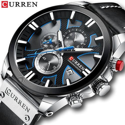 CURREN Men's Watch Chronograph Sport Leather