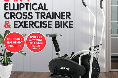 PowerTrain 2-in-1 Elliptical Cross Trainer and Exercise bike