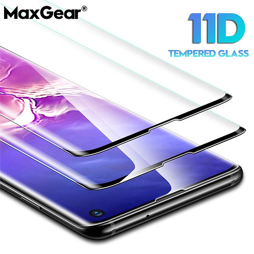 11D  Tempered Glass Galaxy S8 S9 S10 Plus S10E S7 ED  Note 8 9 10 Pro