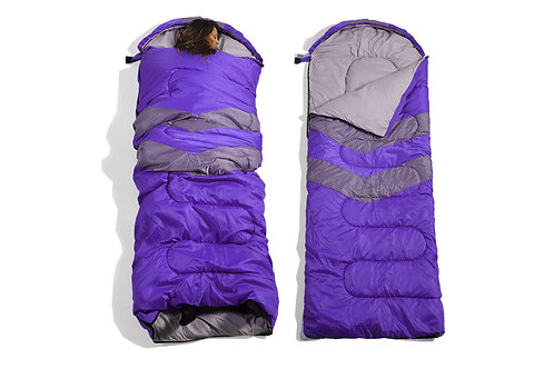 Micro Compact Design Thermal Sleeping Bag Purple