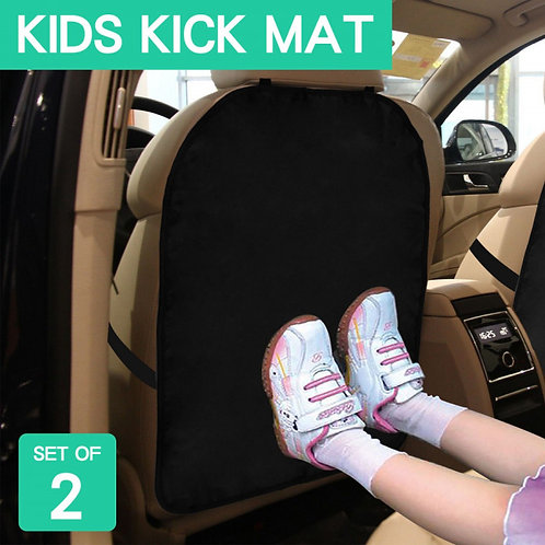 2pcs Portable Car Seat Back Protector Kick Mat
