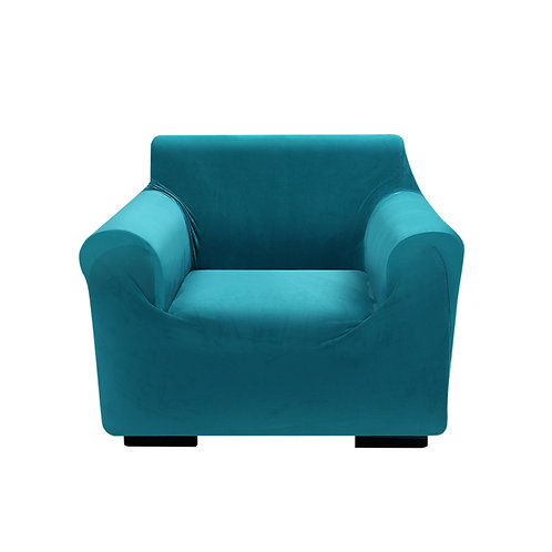 Sofa Cover Couch High Stretch Super Soft Plush Protector Slipcover 1Seater Green