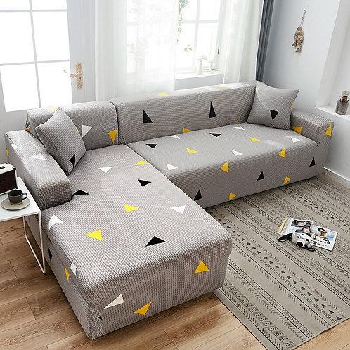 Geometric Sofa Cover/Protector  Stretch Elastic  Copridivano L-Shape