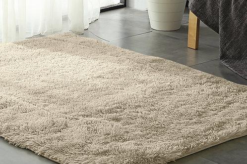New Designer Shaggy Floor Confetti Rug Cream 200x230cm