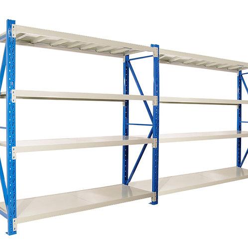 2 Bay Garage Storage Steel Rack Shelving 3.0m 800kg