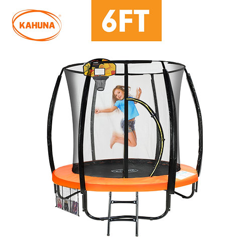 Kahuna Trampoline 6ft with Basketball set - Orange