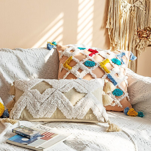 Cushion Cover Boho Style Handmade Pillow Cover 45x45cm /30x50cm