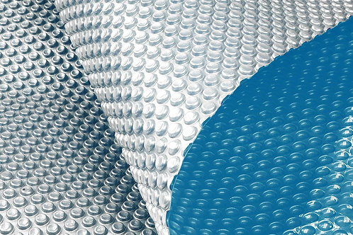 400 Micron Solar Swimming Pool Cover -  Blue/Silver 10m x 4.7m