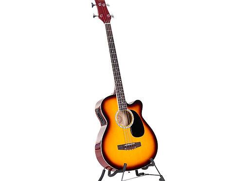 Karrera 43in Acoustic Bass Guitar Sunburst