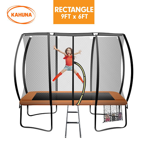 Kahuna Trampoline 6 ft x 9 ft Rectangular Outdoor - Orange