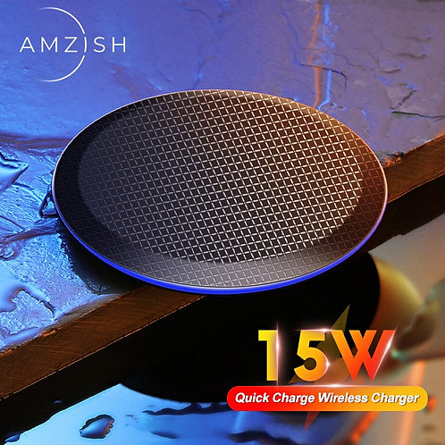 Amzish 15W Fast QI Universal Wireless Charger