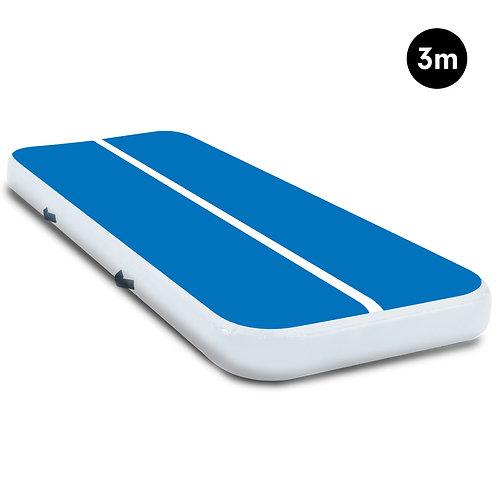 3m Tumbling Gymnastics Exercise Mat Air Track - Blue White