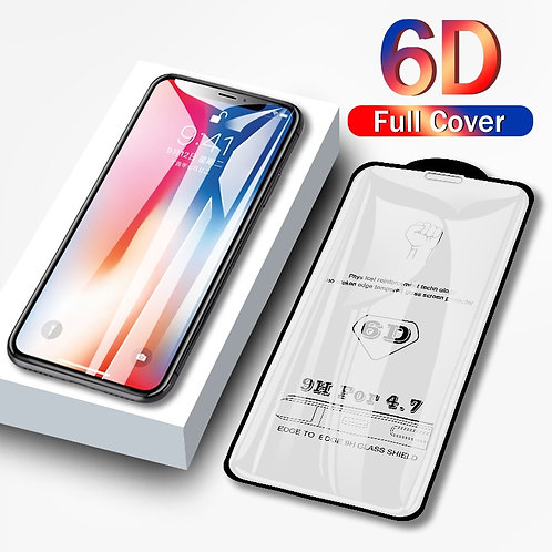 6D Tempered Glass iPhone 8 7 6 6S Plus X XS MAX