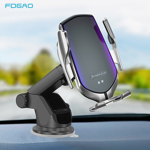 Car Mount Qi Wireless Charger for iPhone 11 Pro XS Max X XR 8 10W  Note 9 to S10