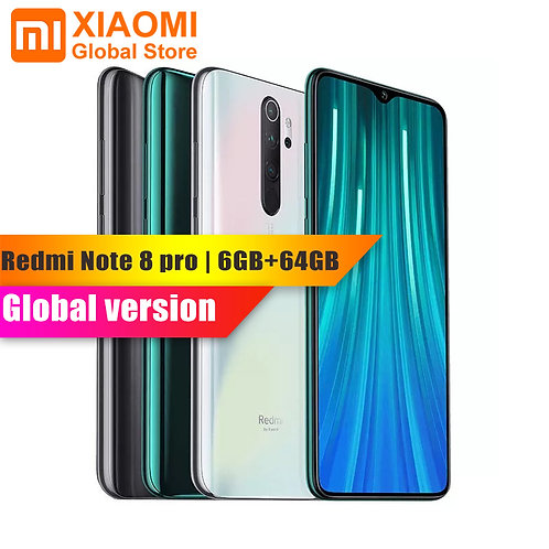 Global Vers Xiaomi Note 8 Pro 6GB RAM 64GB ROM Quick Charge  64MP Cam