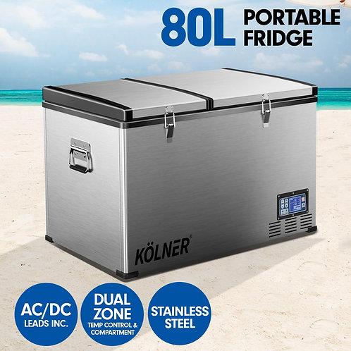 Kolner 80L Portable Fridge Cooler Freezer Camping