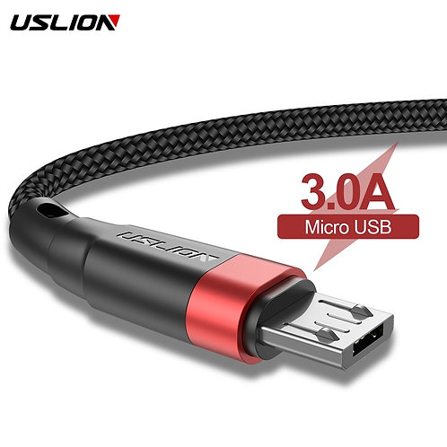 USLION Micro USB Data Cable 3A Fast Charging