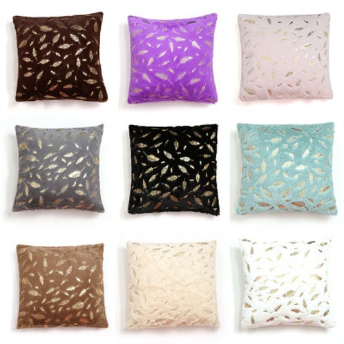 Cushion Cover Fur Feather Pillow Case