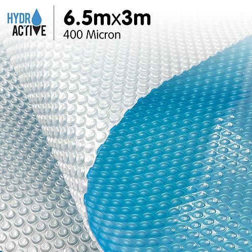 400 Micron Solar Swimming Pool Cover Silver/Blue - 6.5m x 3m