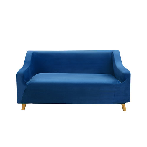 Sofa Cover Couch High Stretch Super Soft Plush Protector Slipcover 2 Seater Navy