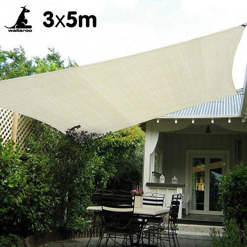 Waterproof Shade sail 3x5m Rectangle
