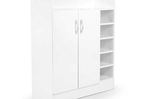 21 Pairs Shoe Cabinet Rack Storage Organiser - 80 x 30 x 90cm - White