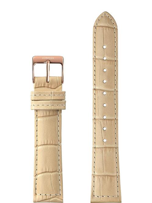 Mat Alligator Leather Watch Strap E3.1159