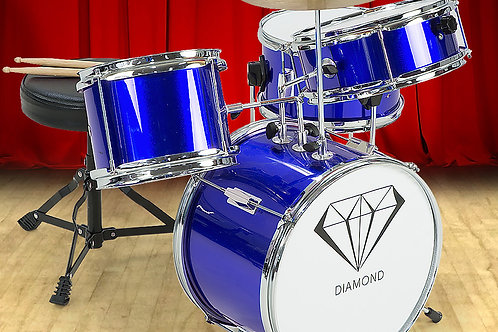 Children's 4pc Drum Kit - Blue