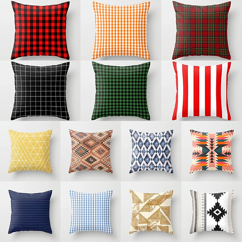 Cushion Cover Polyester Scottish Pillowcase