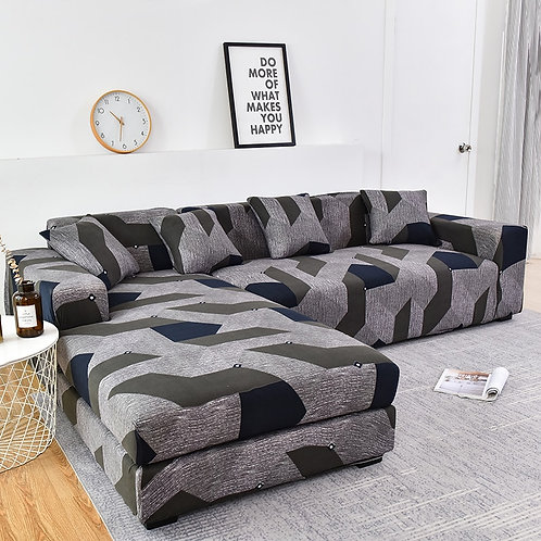 Sofa Cover/Protector Please Order (2piece) if Is L-Shaped Sofa Elastic  Stretch