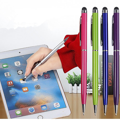 1PC 2 in 1 Capacitive Resistive Pen Touch Screen  for Tablet iPad Cell Phone