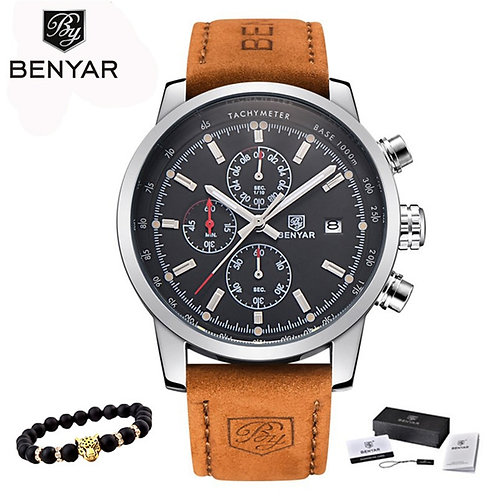 BENYAR Men's Luxury Watch Chronograph Sport