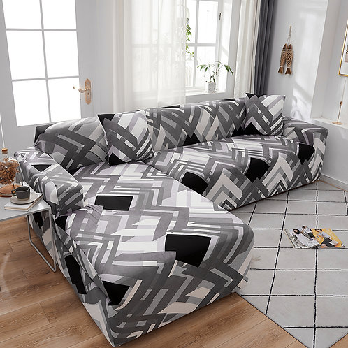 Sofa Cover/Protector Elastic  L Shape Spandex Sectional 1-4 Seater Stretch