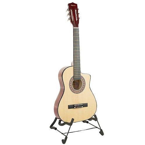 38in Pro Cutaway Acoustic Guitar with guitar bag - Natural