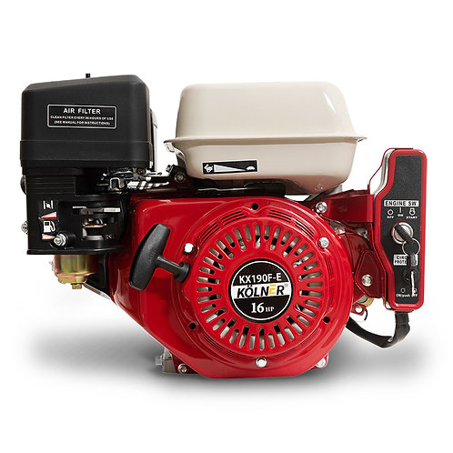 Kolner 16hp 25.4mm Horizontal Key Shaft Q Type Petrol Engine - Electric Start