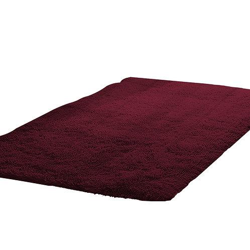 New Designer Shaggy Floor Confetti Rug Burgundy 120x160cm