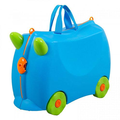 Kiddicare Bon Voyage Kids Ride On Suitcase Luggage Blue