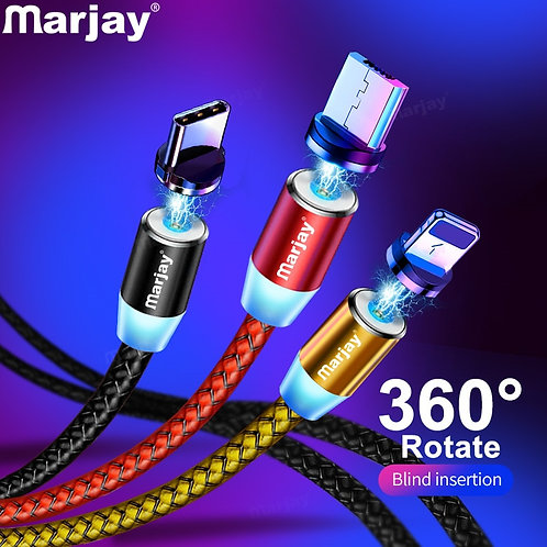 Marjay Magnetic Micro USB Cable Type C Lightening