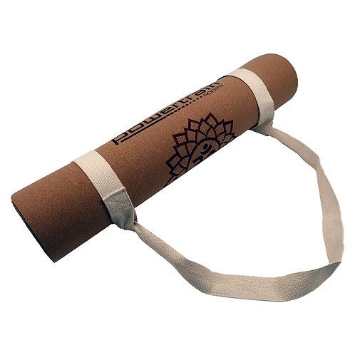 Powertrain Cork Yoga Mat with Carry Straps Home Gym Pilate Chakras