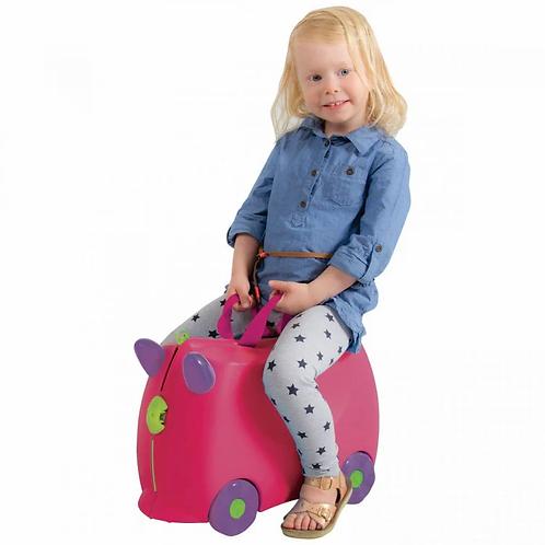 Kiddicare Bon Voyage Kids Ride On Suitcase Luggage Travel Bag Pink