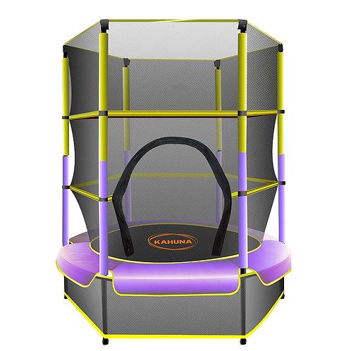 Kahuna Mini 4.5 ft Trampoline Yellow Purple