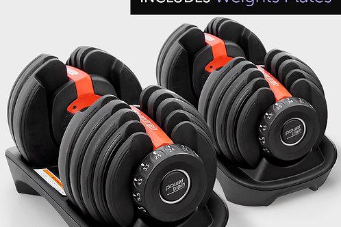 48kg Powertrain Adjustable Dumbbell Home Gym Set