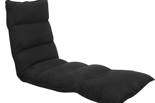 Adjustable Cushioned Floor Gaming Lounge Chair 174 x 56 x 15cm - Black