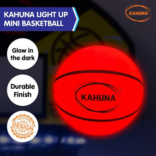 Kahuna Basketball L.E.D Glow Light Up Trampoline Ball