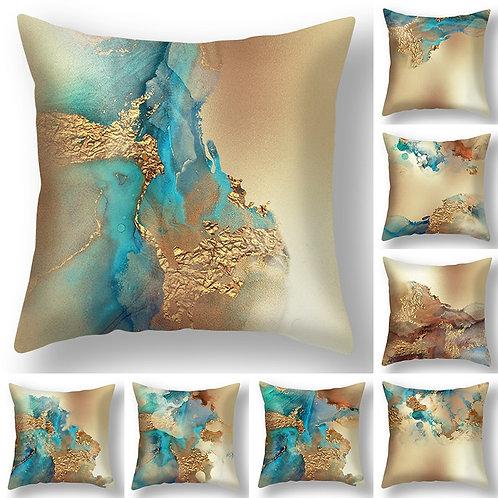 Cushion Cover Retro Marble Texture Pillow Case 45x45cm