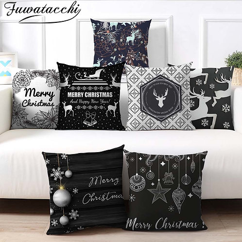 Cushion Cover Santa Deer Pillow Cover Pillow Case