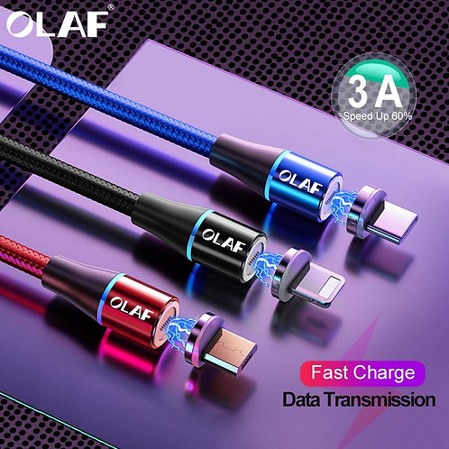 OLAF 2M 3A Magnetic Cable Type C/Lightening